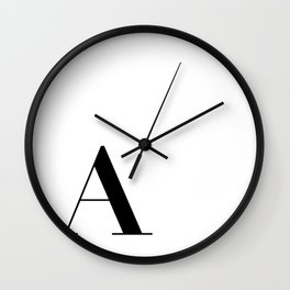 Initial A  Wall Clock