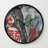 graffiti Wall Clocks featuring Graffiti by AntWoman