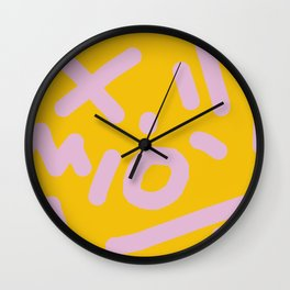 millennial jumble Wall Clock