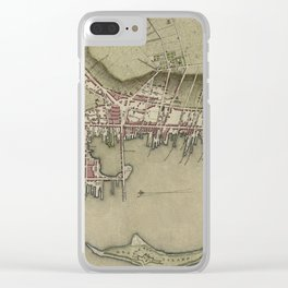 Map of Newport 1777 Clear iPhone Case
