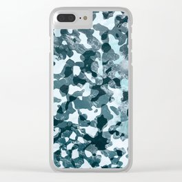 Surfing Camouflage #5 Clear iPhone Case