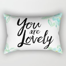 You are lovely floral Rectangular Pillow
