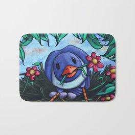 Blue Bird Bath Mat