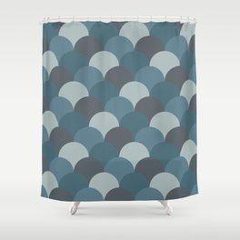 Blueprint Pattern N2 Shower Curtain