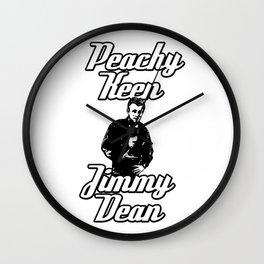 Peachy Keen Jimmy Dean Wall Clock