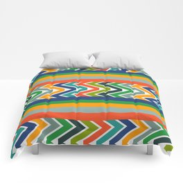 Multicolored stripes and waves Comforters