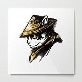 Samurai Cat Metal Print