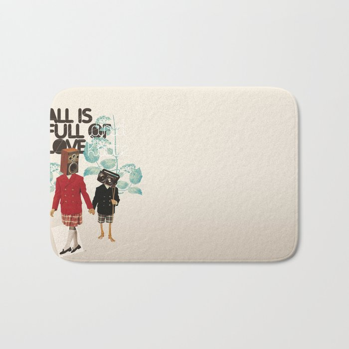 ALL IS FULL OF LOVE Bath Mat