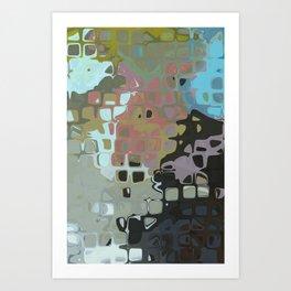 RETRO Abstract Geometric Pattern Art Mid Century Modern Design Art Print