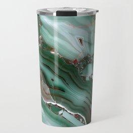 Luxury Malachite Marble Agate  Travel Mug