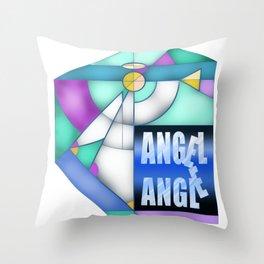 Angel Angle Throw Pillow