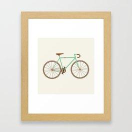 Green Fixie Framed Art Print
