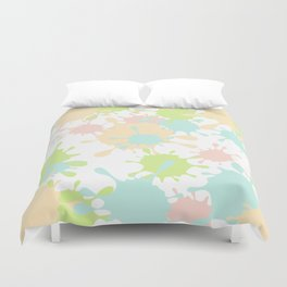 Paint Splatter-Pastels Duvet Cover