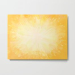 Golden Sunburst Metal Print