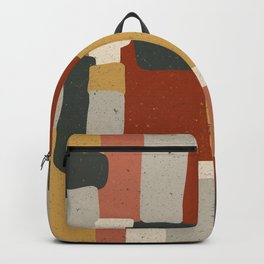 Abstract Geomertic Warm Autumn Color Pattern Backpack