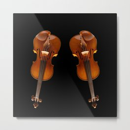 Stradivarius viloin twin Metal Print