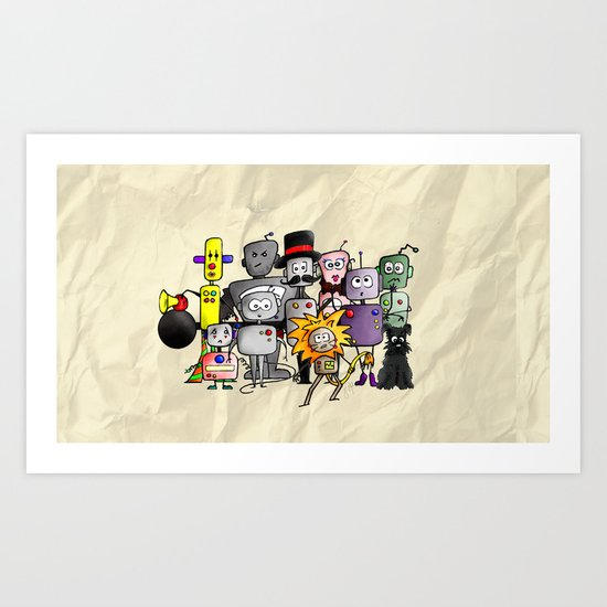 Time is a Circus Art Print