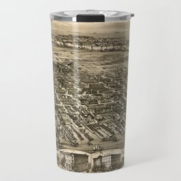 Map of Hoboken 1912 Travel Mug