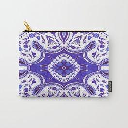 Ultra Violet Mandala Pattern Carry-All Pouch