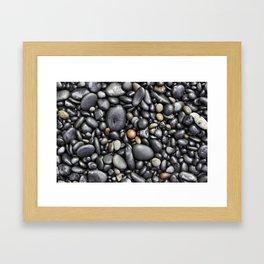 Blacksand Beach Rocks Framed Art Print