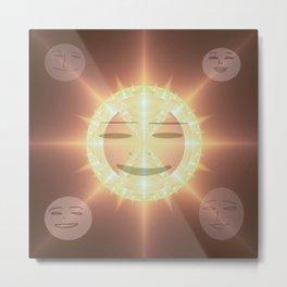Midday sun smile Metal Print