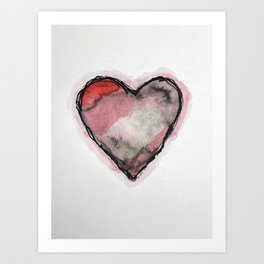 Stained Heart Art Print