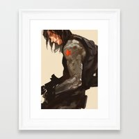 bucky Framed Art Prints featuring Bucky Cover by MMCoconut