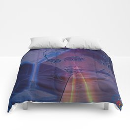 Cyber Martini Girl 1 Comforters