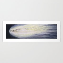 Halley's Comet (as a Cheetah) Art Print