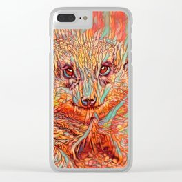 ColorMix Meerkat 1 Clear iPhone Case