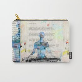 Yoga Book. Lesson 1 Concentration - painting - art print  Carry-All Pouch