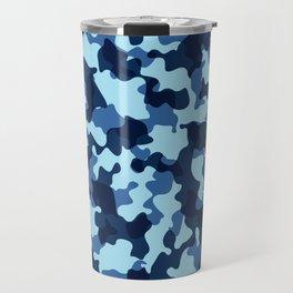 Camouflage Blue Travel Mug