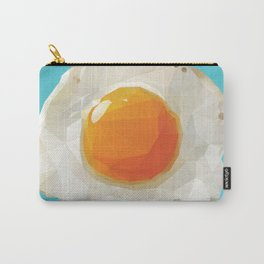 Fried Egg Polygon Art Carry-All Pouch