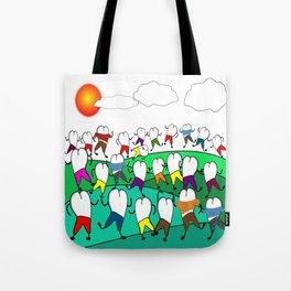 Whimsical Frolicking Teeth Tote Bag