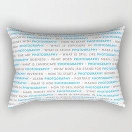 Blue Photography Keywords Rectangular Pillow