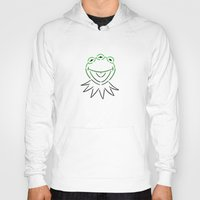 kermit Hoodies featuring Monsanto Kermit Says...(white) by Mutant Colony
