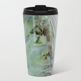 Marble teal & gold ocean Travel Mug