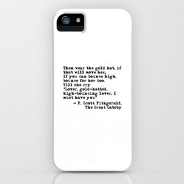 Epigraph - The Great Gatsby - Fitzgerald quote iPhone Case