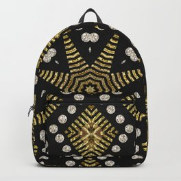 Black Gold | Geometric Tribal Backpack