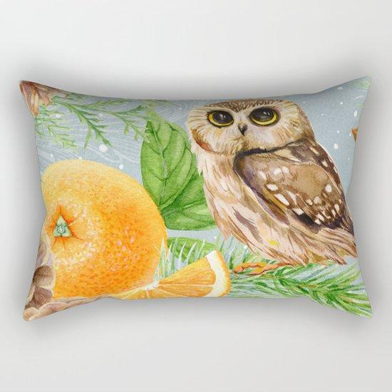 Winter animal #10 Rectangular Pillow