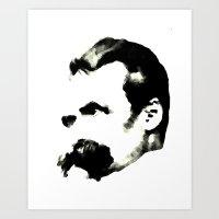 nietzsche Art Prints featuring Nietzsche by johannesart