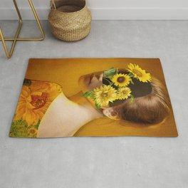 Sunflower Lady Rug