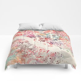Dallas map Comforters