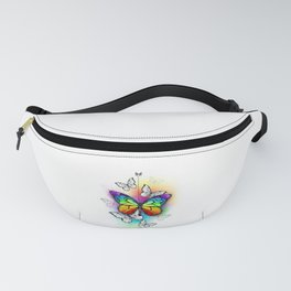 Composition with Rainbow Butterfly Fanny Pack