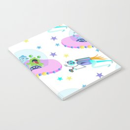 Outerspace Traffic Jam Notebook