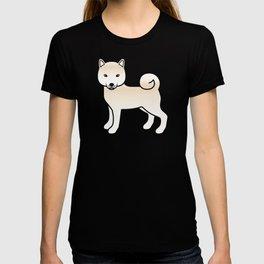 Cream Shiba Inu Cute Cartoon Dog T-shirt