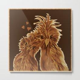 DODO LOVE BIRDS  Metal Print