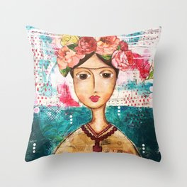 Coco's Closet - Inspired by Frida Throw Pillow