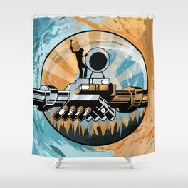 Set the Controls for the Heart of the Moon Shower Curtain