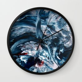 ThunderStorm encaustic Wall Clock